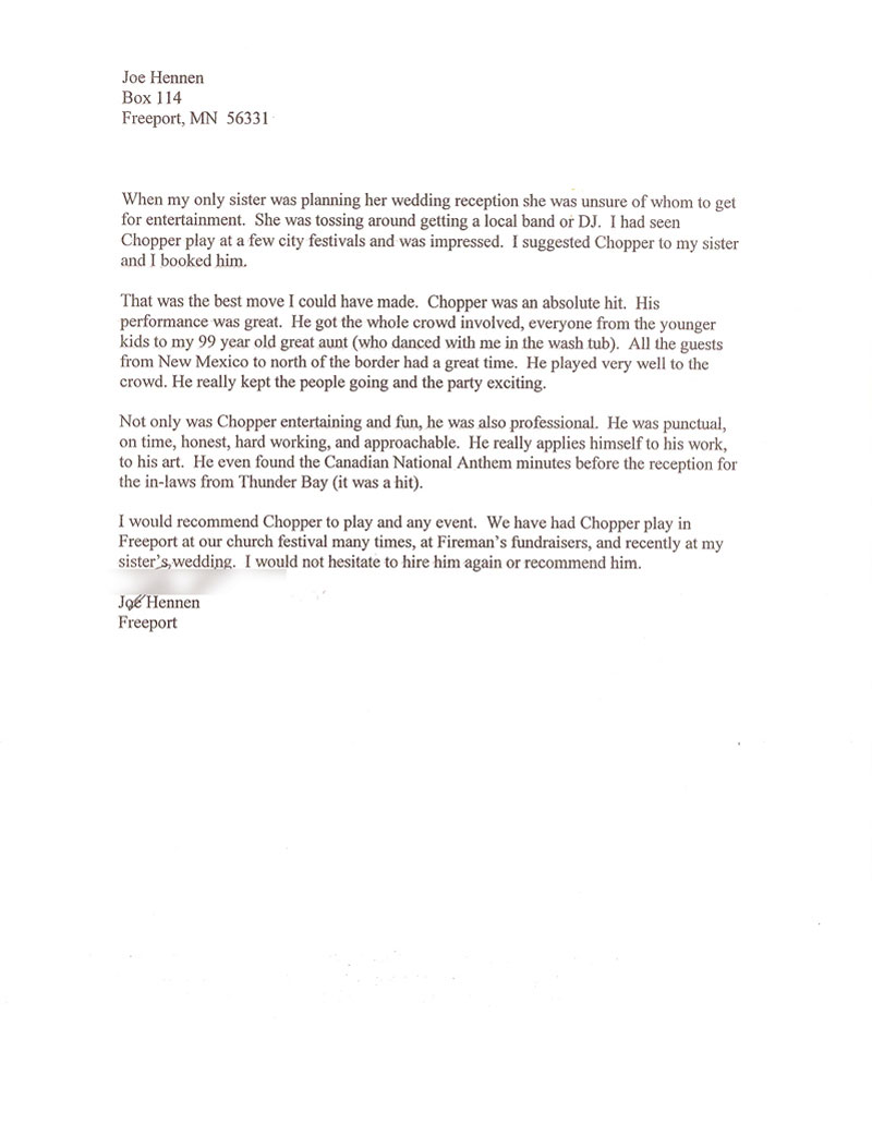 wedding letters of recommendation jim tera joe hennen michelle mager rebecca breth 1 of 2